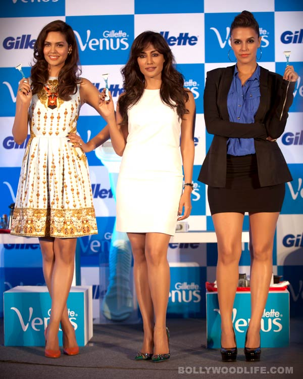 Chitrangda Singh, Neha Dhupia, Esha Gupta - who has the sexiest legs?: Watch videos and vote!