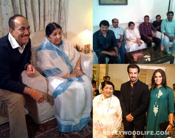 Lata Mangeshkar parties with Ronit Roy and the CID team: View pics!