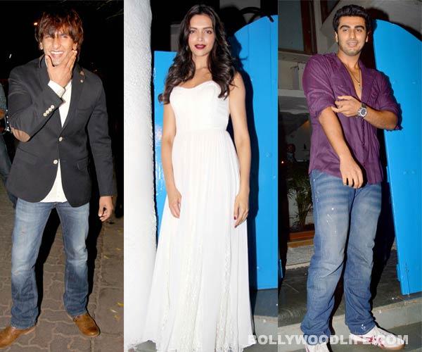 Deepika Padukone, Ranveer Singh and Arjun Kapoor celebrate Homi Adajania's Finding Fanny Fernandes!
