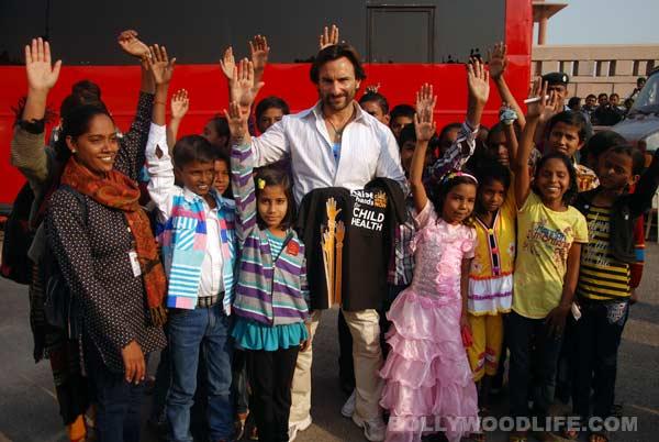 Who visited Saif Ali Khan on the sets of Bullett Raja?