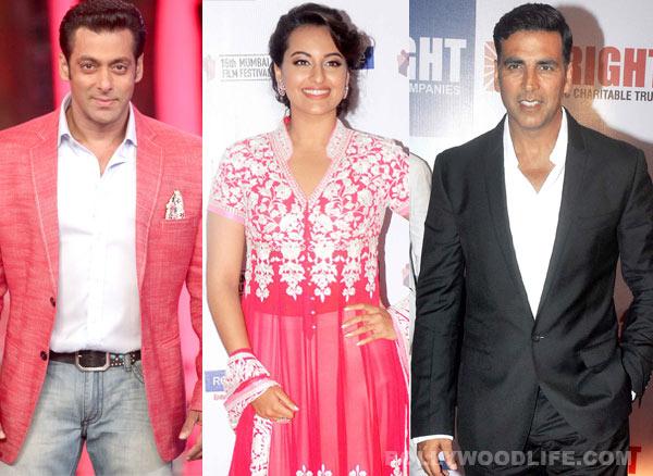 Is Sonakshi Sinha going the Salman Khan and Akshay Kumar way?