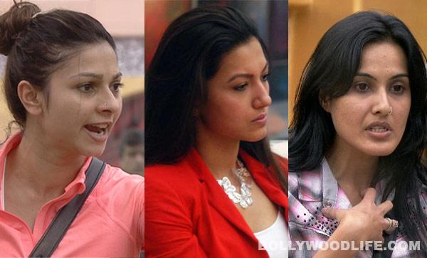 Bigg Boss 7: Tanishaa Mukherji, Gauahar Khan and Kamya Punjabi fight it out for the number 1 spot!