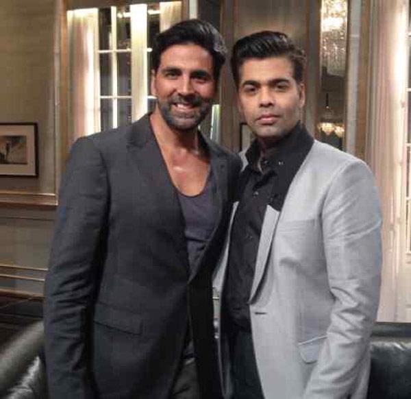 Akhshay Kumar calls his session with Karan Johar a steaming one