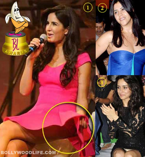 The 3rd BollywoodLife Awards 2013: Katrina Kaif beats Anushka Sharma and Ekta Kapoor to bag the 'Worst Peek-a-Boo Moment' crown!