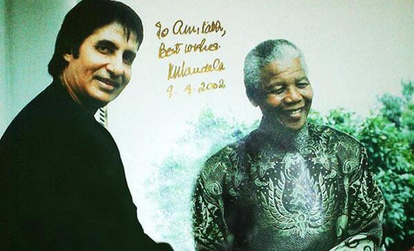 Amitabh Bachchan remembers the late Nelson Mandela as a man of will, belief and perseverance