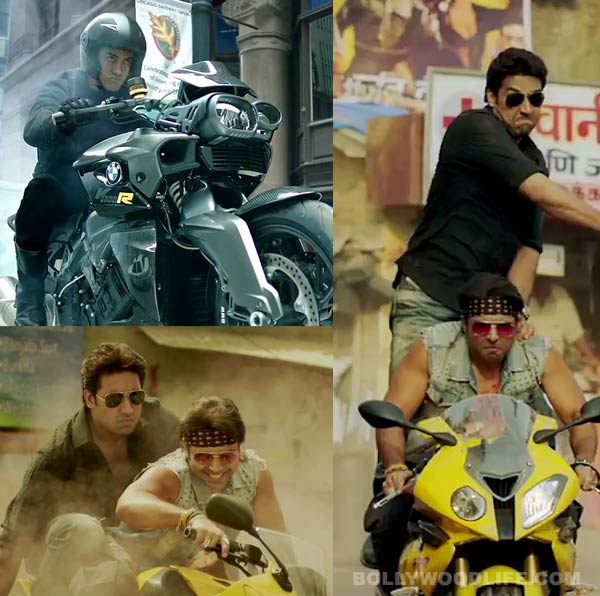 Vrooming past in Dhoom style