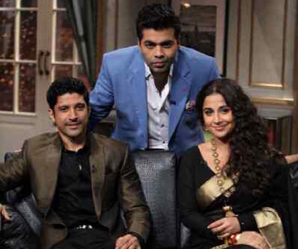 Will Farhan Akhtar and Vidya Balan reveal their wedding woes on Koffee with Karan 4?