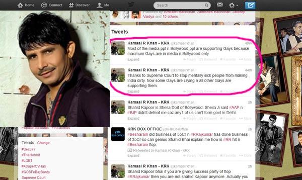 Is Kamaal R Khan homophobic?