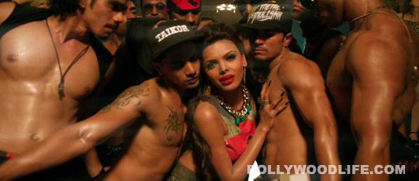 What is Sherlyn Chopra trying to do with bare bodied men?: Watch Bad Girl video!
