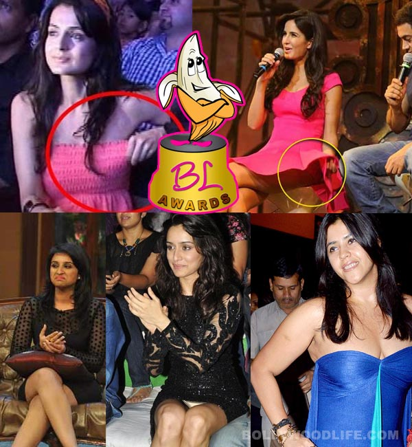 The 3rd Bollywoodlife Awards: Katrina Kaif, Ekta Kapoor or Shraddha Kapoor – Who had the worst peek-a-boo moment?