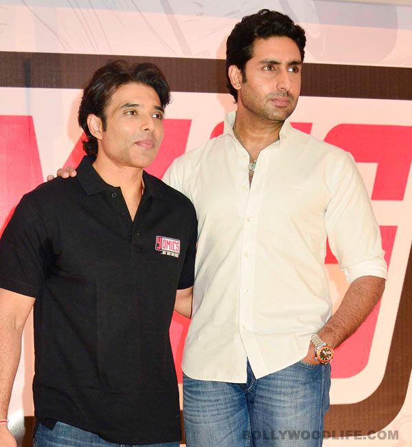 Are Abhishek Bachchan and Uday Chopra repeating themselves in Dhoom:3? Watch video!