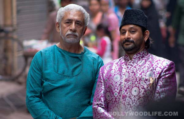 Does Naseeruddin Shah share better chemistry with Arshad Warsi compared to Madhuri Dixit-Nene?