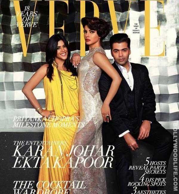 Priyanka Chopra, Karan Johar and Ekta Kapoor raise the glam quotient of Verve!