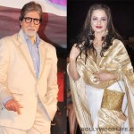 What was Rekha prompting to Amitabh Bachchan at a recent awards show?