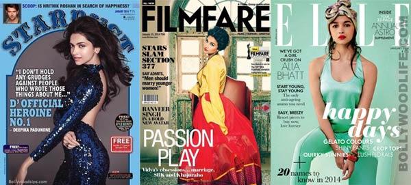 Deepika Padukone, Vidya Balan, Alia Bhatt, Nargis Fakhri – Who is your favourite cover girl this January?