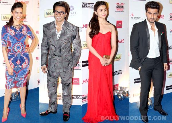 Deepika Padukone-Ranveer Singh, Alia Bhatt-Arjun Kapoor - Filmfare Awards party turns into lovers' night. View pics!