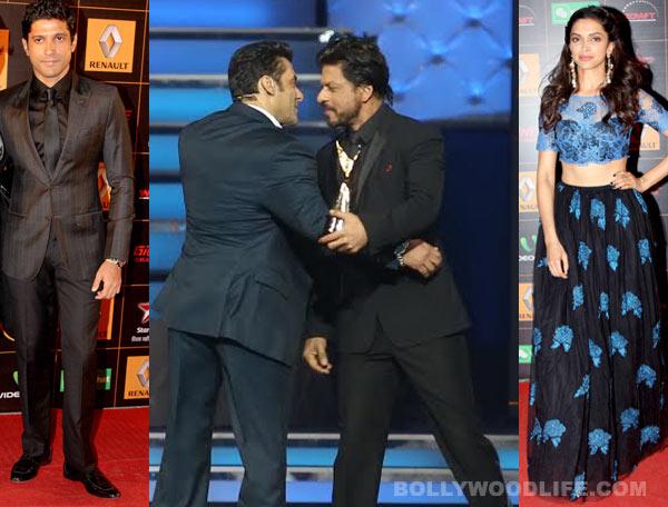 After Shahrukh Khan Salman Khan hug, Deepika Padukone and Farhan Akhtar bag best actor awards at Star Guild Awards