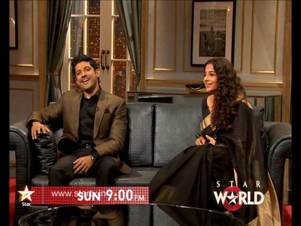 Koffee With Karan 4: When Vidya Balan flirted with Farhan Akhtar