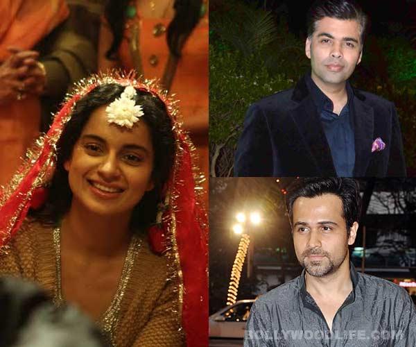 Emraan Hashmi, Karan Johar sing praises for Kangana Ranaut's role in Queen
