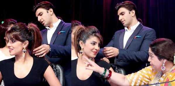 Ranveer Singh turns Priyanka Chopra's hair stylist!