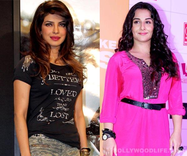 Does Priyanka Chopra think she is better than Vidya Balan?