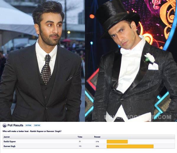 Ranveer Singh will make a better host than Ranbir Kapoor, say fans