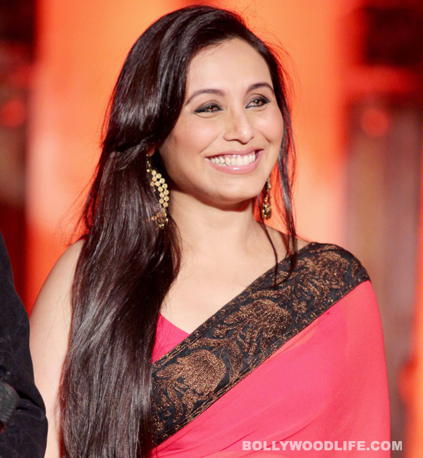 What is Rani Mukerji's suprise announcement?