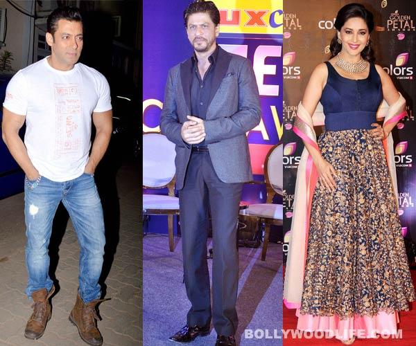Shahrukh Khan stands up for Salman Khan and Madhuri Dixit-Nene!