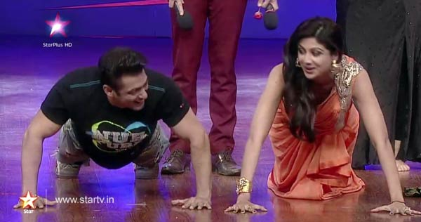 Nach Baliye 6: Salman Khan challenges Shilpa Shetty and Daisy Shah in a push-up competition!