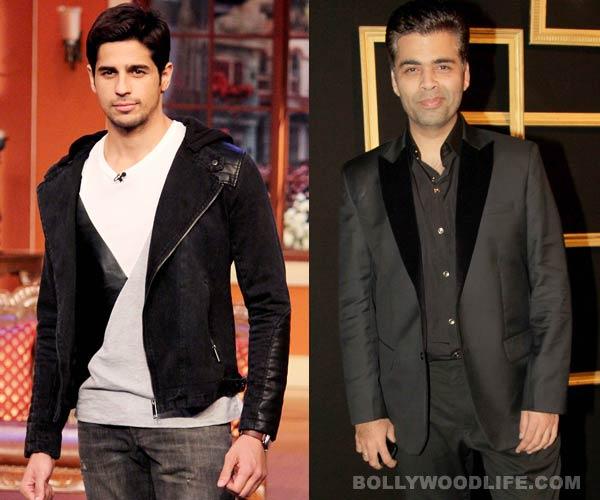 Will Karan Johar make one more film with Sidharth Malhotra?