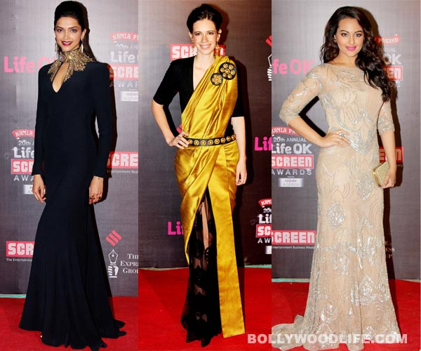 20th Screen Awards: Deepika Padukone, Sonakshi Sinha or Kalki Koechlin - Who looked most sexy?