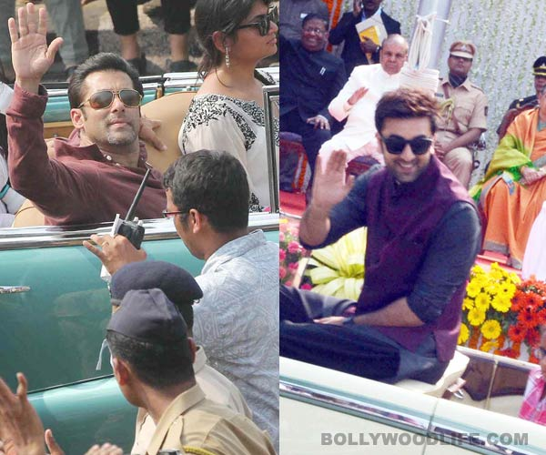 What happened when Salman Khan and Ranbir Kapoor came together at the Republic day parade?