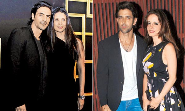 Why did Hrithik Roshan-Sussane not party with Arjun Rampal-Mehr Jessia?