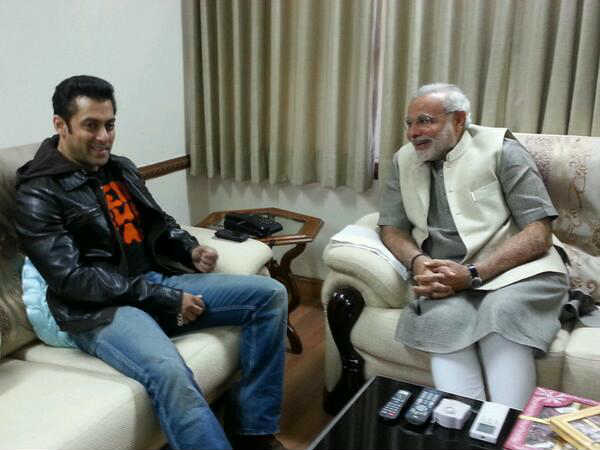 What did Salman Khan and Narendra Modi have for lunch? View pics!