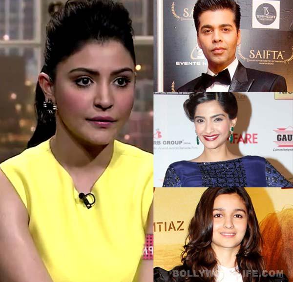 Anushka Sharma's lips get Sonam Kapoor, Alia Bhatt and Karan Johar talking!