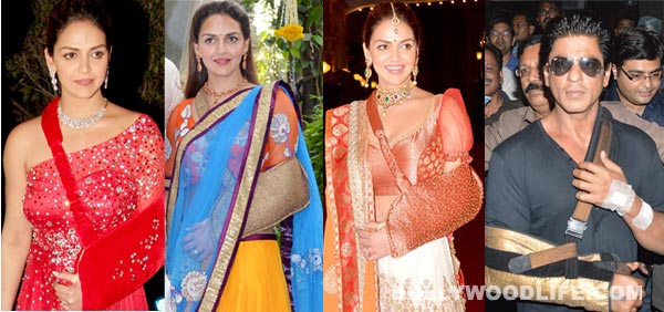 Shahrukh Khan Inspires Esha Deols Look For Sister Ahanas Wedding