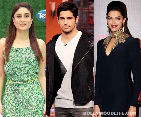 Siddharth Malhotra wants to flirt with Kareena Kapoor and impress Deepika Padukone!