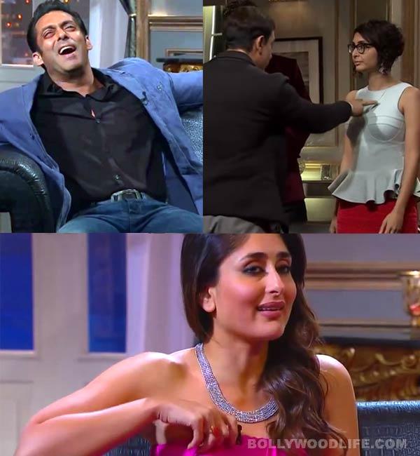 Koffee with Karan 4 bloopers: The real Salman Khan, Aamir Khan and Kareena Kapoor Khan caught off the camera! Watch video!