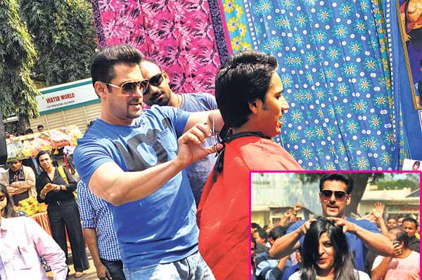 Has Jai Ho's failure turned Salman Khan into a barber?
