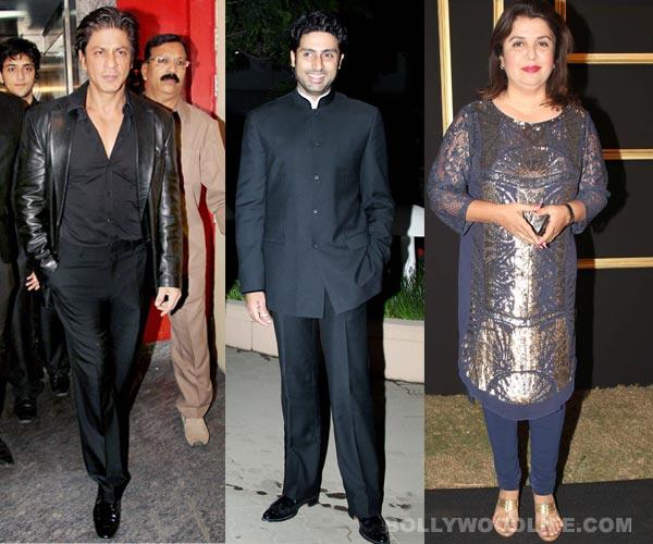 How did Shahurkh Khan and Farah Khan celebrate Abhishek Bachchan's birthday?