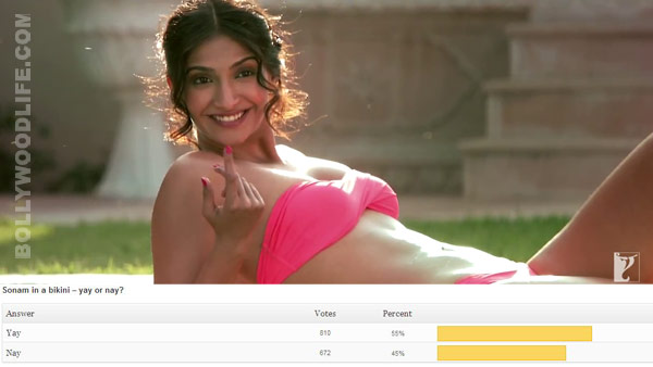 Sonam Kapoor in a bikini - hot, hot and only hot!