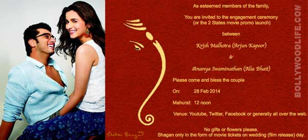 Have you received Alia Bhatt and Arjun Kapoor's engagement invite? View pic!