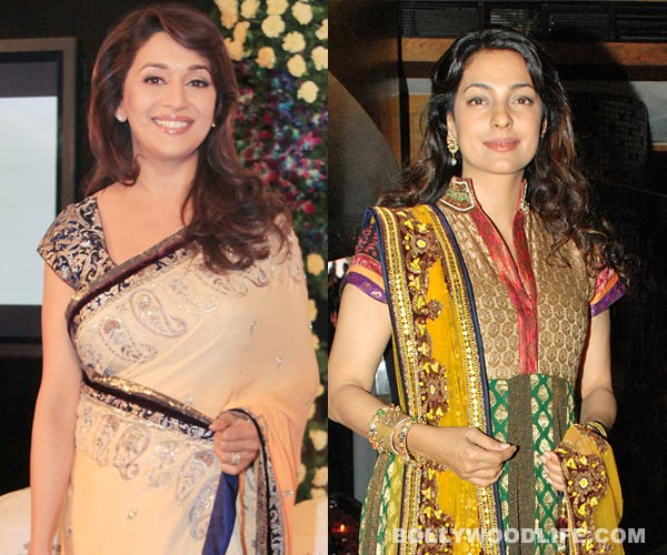 Why does Madhuri Dixit-Nene find it inspiring to work with Juhi Chawla?
