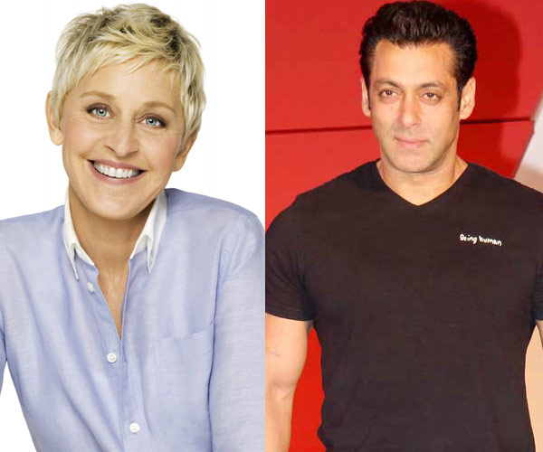 What did Ellen DeGeneres want to know about Salman Khan?