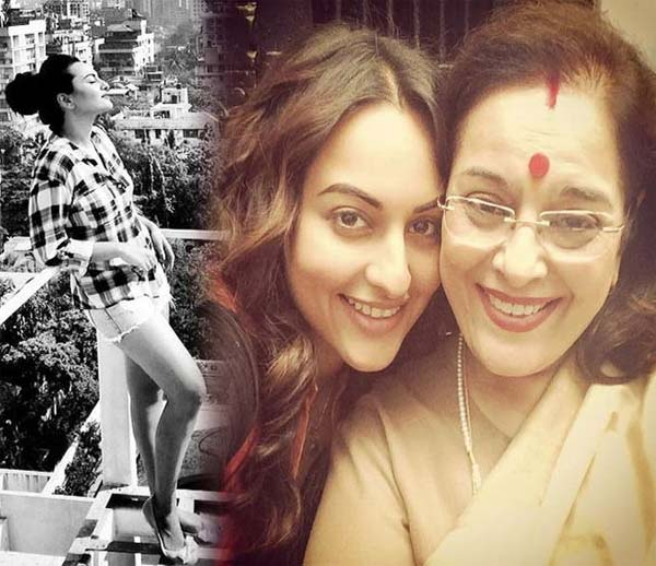 Why did Sonakshi Sinha's mom drop by on the sets of Tevar?
