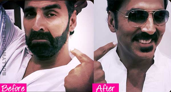 Akshay Kumar out of his Gabbar look - View pic!