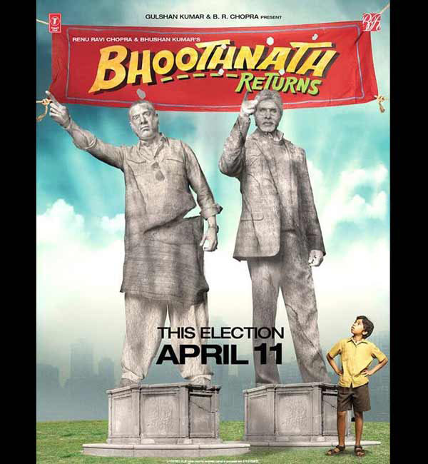 Bhoothnath Returns new poster: Amitabh Bachchan to contest elections against Boman Irani!