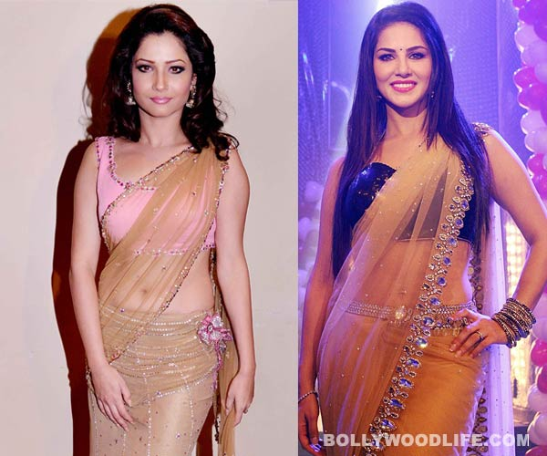 Ankita Lokhande tries hard to match Sunny Leone's sexy avatar on Pavitra Rishta special episode! View pics