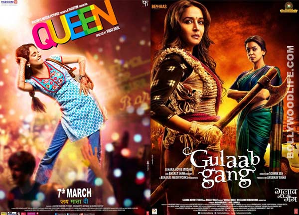 Box office collection: Kangana Ranaut starrer Queen races ahead of Gulaab Gang and Total Siyapaa in the numbers game