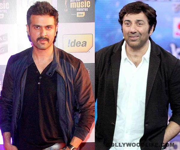 How do Sunny Deol and Harman Baweja bond during the shoots?